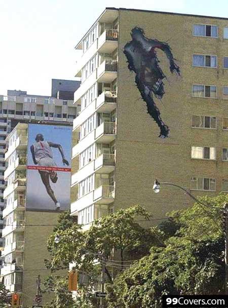 Nike Run Through The Wall Ad