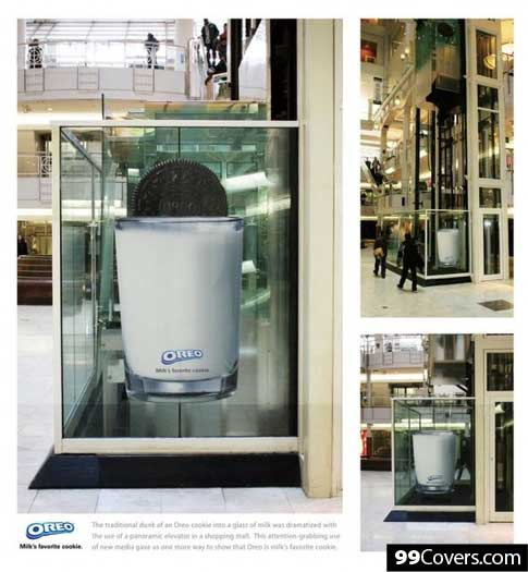 Creative Oreo elevator Advertisement