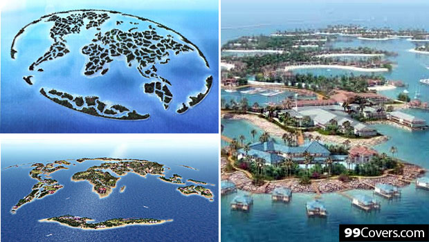 8 amazing man made islands the world islands project is a group of 300 man made islands constructed in the shape of a map of the world located 6km off the coast of dubai uae gumiabroncs Gallery
