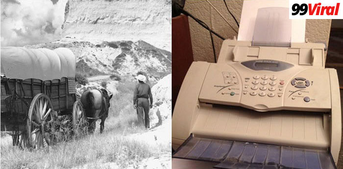 9. The fax machine was invented the same year people were traveling the Oregon Trail.